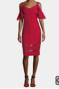 NWT Tadashi Shoji Pintuck Jersey Dress